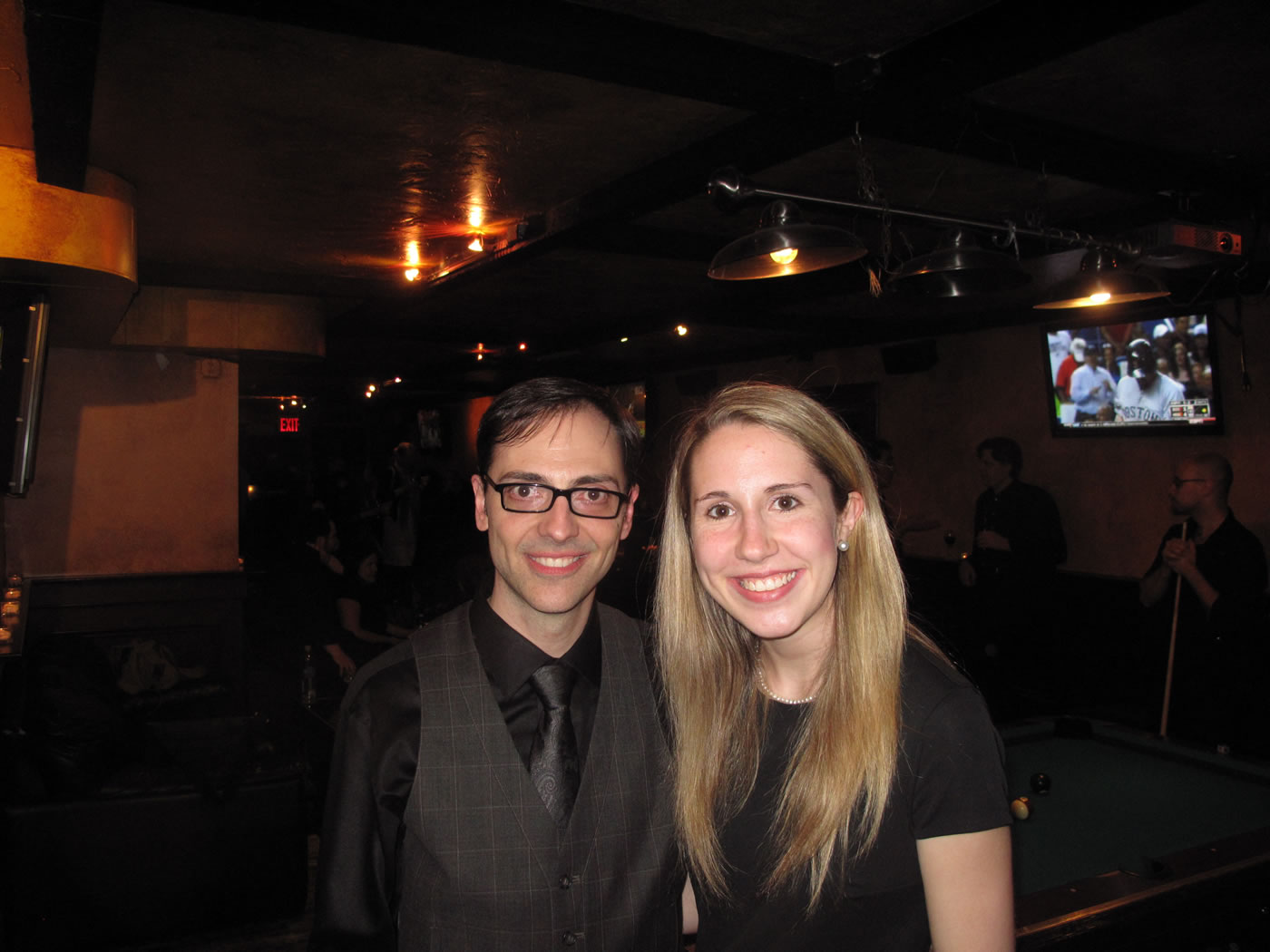 "Emily with music director, Mark Hartman, after ""Oliver"""